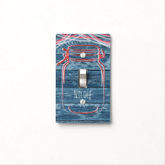red white blue mason jar string lights rustic light switch cover blue mason jar string lights