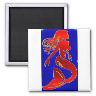 red white blue mermaid magnet magnet