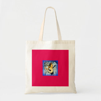 red white blue mermaid tote bag