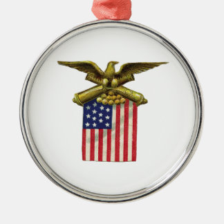 Red White & Blue Metal Ornament