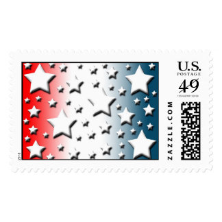 Red White Blue Military Wedding Invitations Stamps