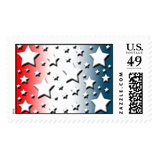 Red White Blue Military Wedding Invitations Stamps Stamp