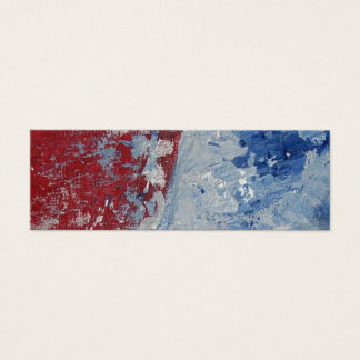 Red White & Blue Mini Business Card