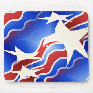Red, White & Blue Mouse Pad