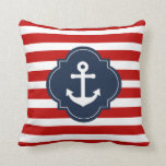 "Red White &amp; Blue Nautical Anchor Pillow<br><div class=""desc"">Red White &amp; Blue Nautical Anchor Pillow</div>"