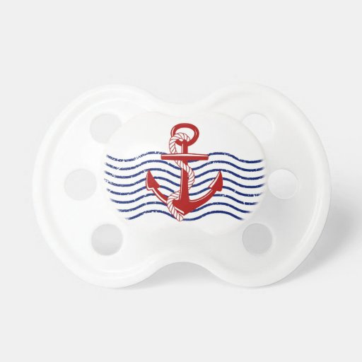 Red, White & Blue Nautical Baby Pacifier