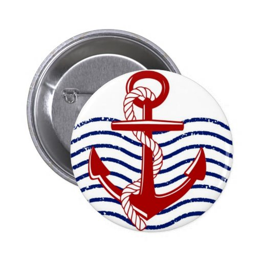 Red, White & Blue Nautical Button