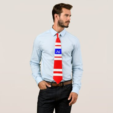 Professional Business Red White Blue Neck Tie