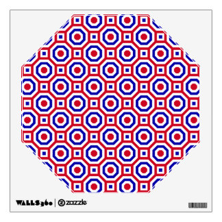Red/White/Blue Nested Octagon Wall Decal