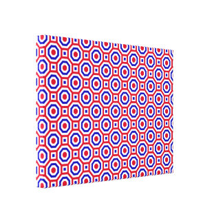 Red/White/Blue Nested Octagon Wrapped Canvas