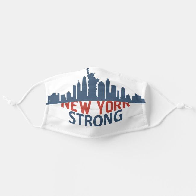 Red White Blue New York Strong Adult Cloth Face Mask