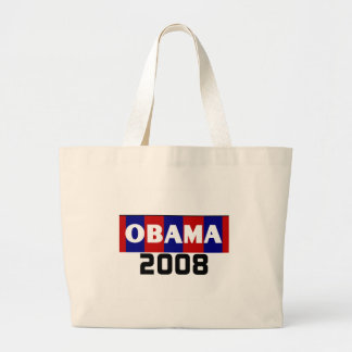 Red, White, Blue Obama 2008 Large Tote Bag