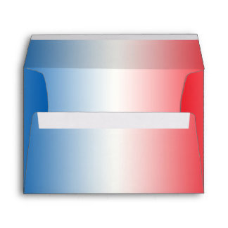 Red White & Blue Ombre A7 Envelope