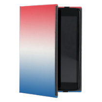 Red White & Blue Ombre Cover For iPad Mini