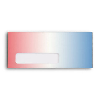 Red White & Blue Ombre Envelope