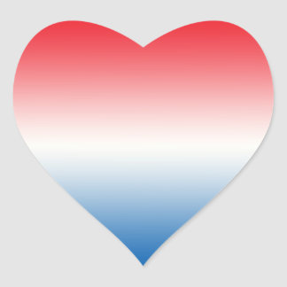 Red White & Blue Ombre Heart Sticker