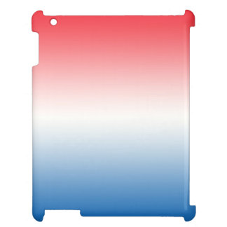 Red White & Blue Ombre iPad Case