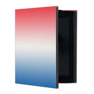 Red White & Blue Ombre iPad Folio Case