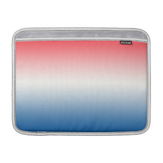 Red White & Blue Ombre MacBook Sleeves