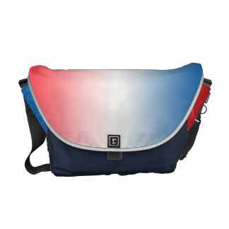 Red White & Blue Ombre Courier Bags