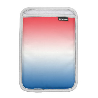Red White & Blue Ombre Sleeve For iPad Mini