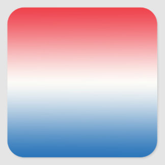 Red White & Blue Ombre Square Sticker