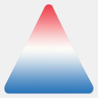 Red White & Blue Ombre Triangle Sticker