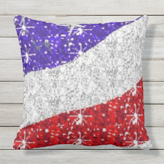 Red White & Blue Outdoor Patio Pillows - UV Resist