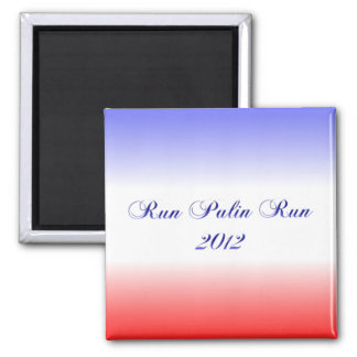Red White & Blue Palin 2012 Square Magnet