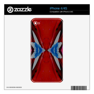 Red White Blue Patriotic Artistic Design iPhone 4S Decals
