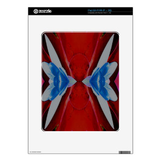 Red White Blue Patriotic Artistic Design Skin For The iPad