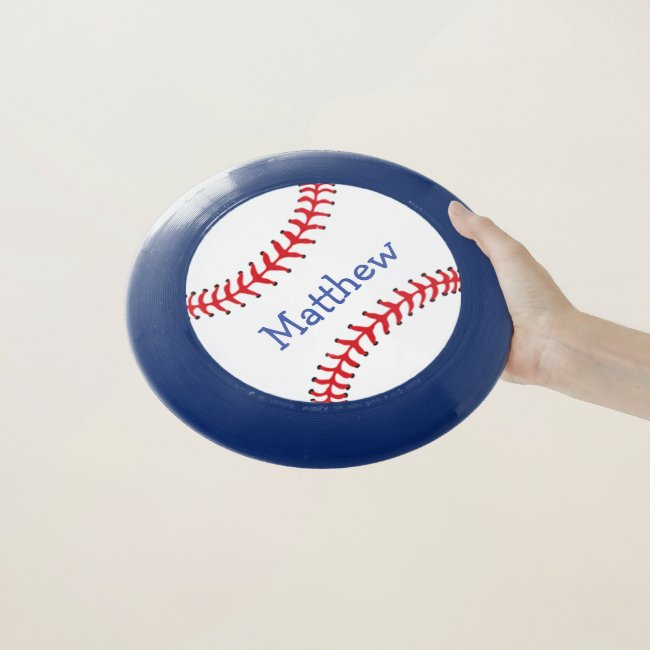 Red White Blue Patriotic Baseball Frisbee