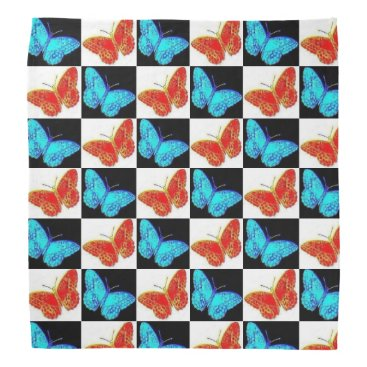 USA Themed Red White Blue Patriotic Butterfly Bandana | USA