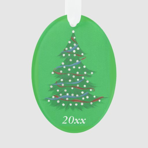 White Christmas Tree Blue Ornaments : Red white blue patriotic christmas tree ornaments zazzle
