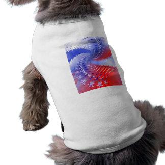 Red White & Blue Patriotic Doggie Tank Top