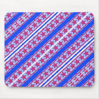 Red, White & Blue Patriotic Patern. Mouse Pad