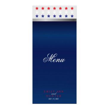 Red, White & Blue Patriotic Star - Menu