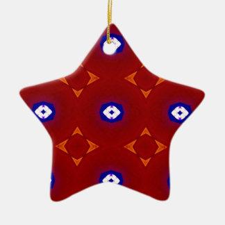 Red White Blue Patriotic Summer Colors Ceramic Ornament