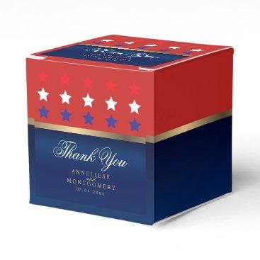 Red, White & Blue Patriotic Wedding Favor Box