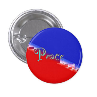 Red White Blue Peace Pinback Button