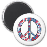 Red, White & Blue Peace Sign Refrigerator Magnets