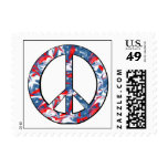 Red, White & Blue Peace Sign Stamps