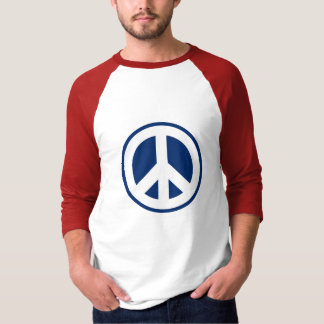 Red, White & Blue Peace T Shirt