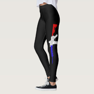 Red White Blue Pew Leggings