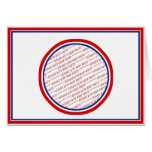 Red White & Blue Photo Frame Template Greeting Card