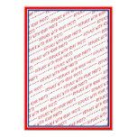Red White & Blue Photo Frame Template Invite