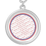 Red White & Blue Photo Frame Template Necklaces