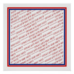 Red White & Blue Photo Frame Template Posters