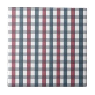 Red, White & Blue Picnic Pattern Tile