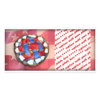 Red White Blue Pie on Old Glory Picture Card